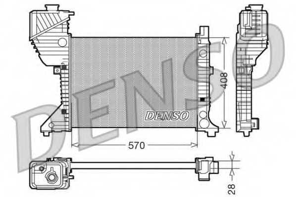 Радиатор охлаждения двигателя DENSO DRM17016 - изображение