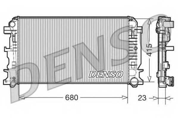 Радиатор охлаждения двигателя DENSO DRM17018 - изображение