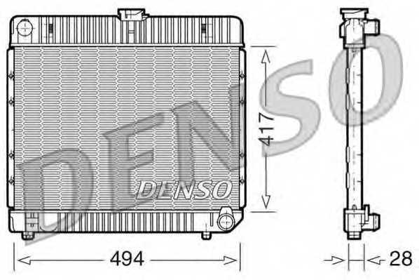 Радиатор охлаждения двигателя DENSO DRM17020 - изображение