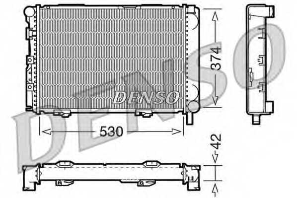 Радиатор охлаждения двигателя DENSO DRM17025 - изображение