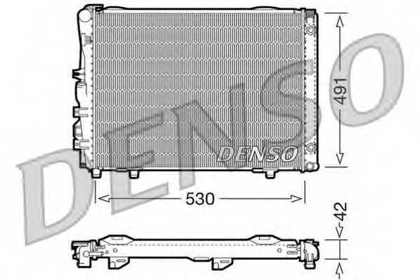 Радиатор охлаждения двигателя DENSO DRM17030 - изображение