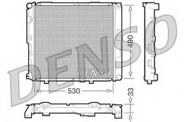 Радиатор охлаждения двигателя DENSO DRM17038 - изображение
