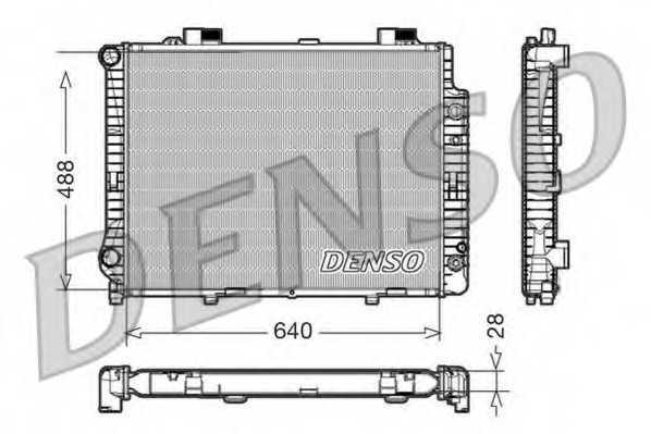 Радиатор охлаждения двигателя DENSO DRM17041 - изображение