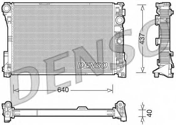 Радиатор охлаждения двигателя DENSO DRM17045 - изображение
