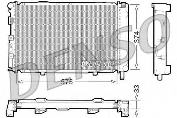 Радиатор охлаждения двигателя DENSO DRM17064 - изображение
