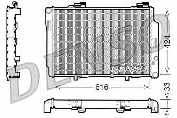 Радиатор охлаждения двигателя DENSO DRM17070 - изображение
