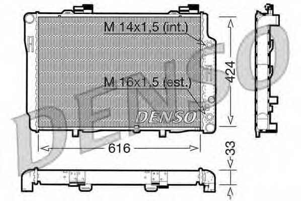 Радиатор охлаждения двигателя DENSO DRM17071 - изображение
