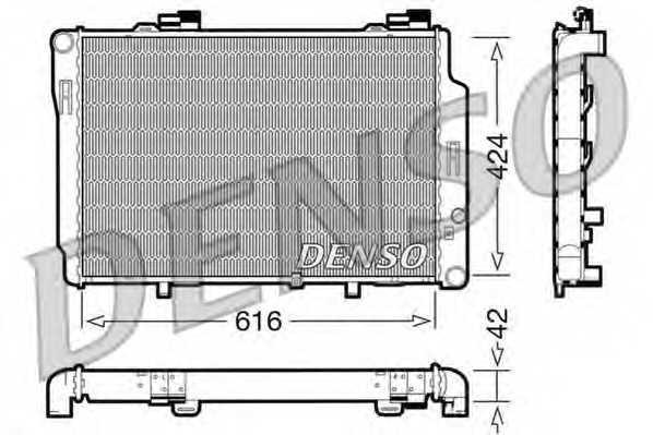 Радиатор охлаждения двигателя DENSO DRM17072 - изображение