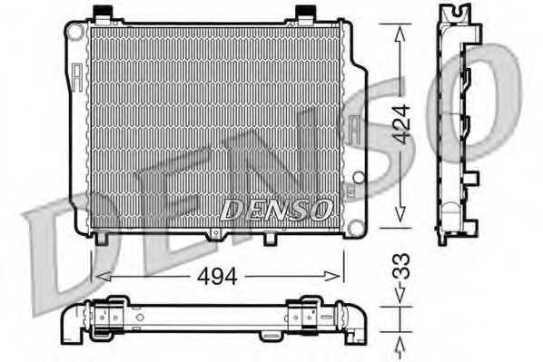 Радиатор охлаждения двигателя DENSO DRM17074 - изображение