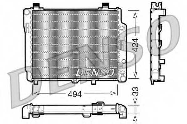 Радиатор охлаждения двигателя DENSO DRM17075 - изображение