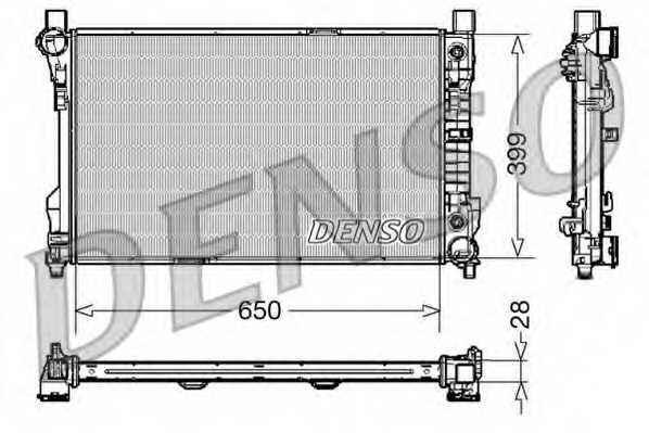 Радиатор охлаждения двигателя DENSO DRM17079 - изображение