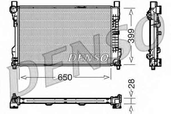 Радиатор охлаждения двигателя DENSO DRM17080 - изображение