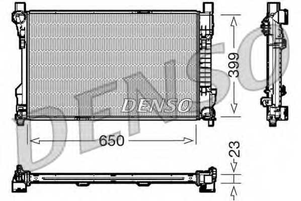 Радиатор охлаждения двигателя DENSO DRM17081 - изображение
