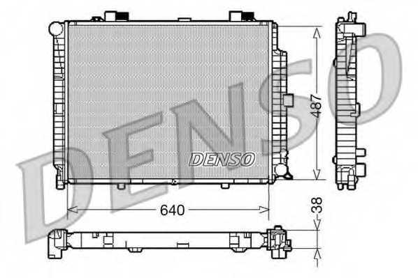 Радиатор охлаждения двигателя DENSO DRM17086 - изображение