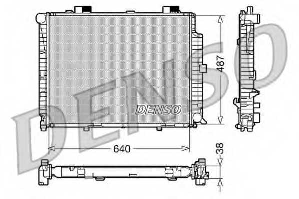 Радиатор охлаждения двигателя DENSO DRM17087 - изображение