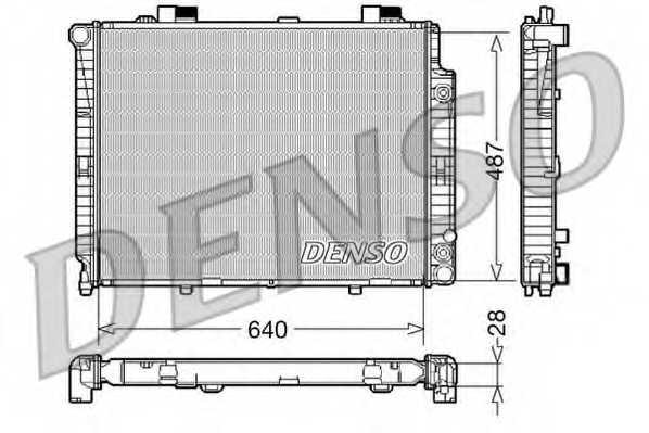 Радиатор охлаждения двигателя DENSO DRM17088 - изображение
