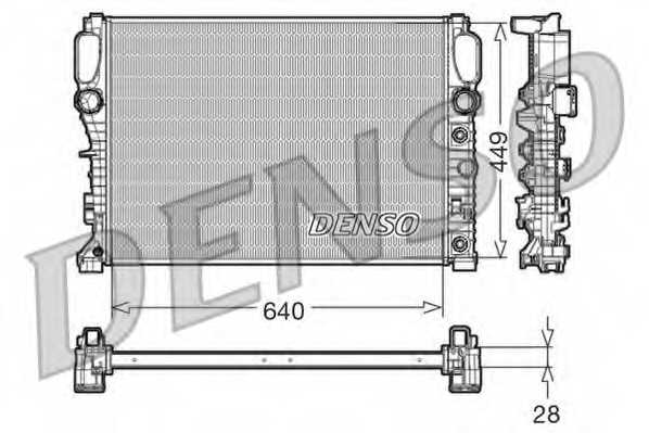 Радиатор охлаждения двигателя DENSO DRM17091 - изображение