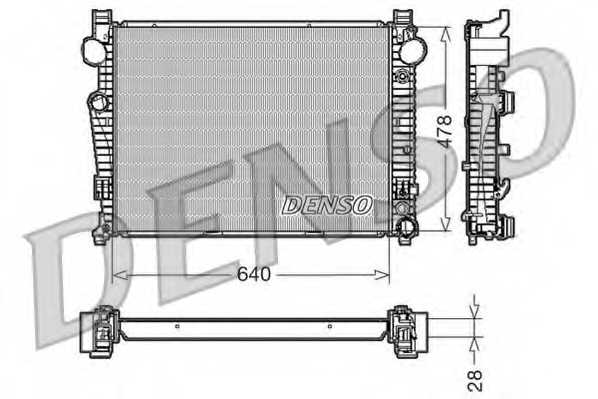 Радиатор охлаждения двигателя DENSO DRM17092 - изображение