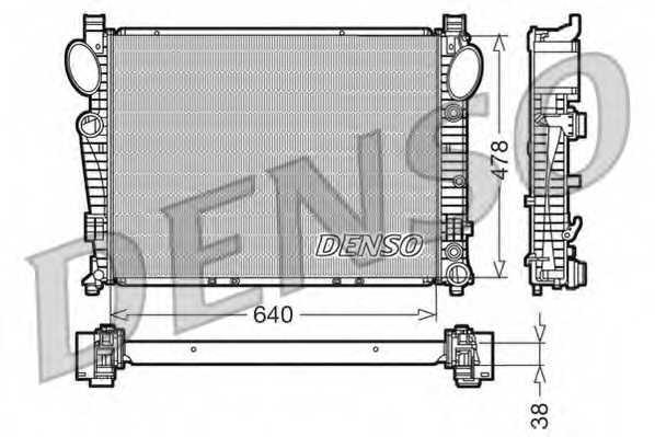 Радиатор охлаждения двигателя DENSO DRM17094 - изображение