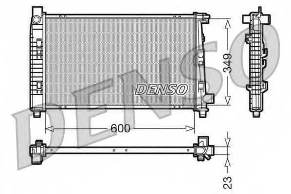 Радиатор охлаждения двигателя DENSO DRM17100 - изображение