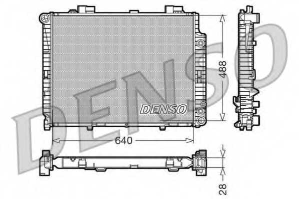 Радиатор охлаждения двигателя DENSO DRM17101 - изображение