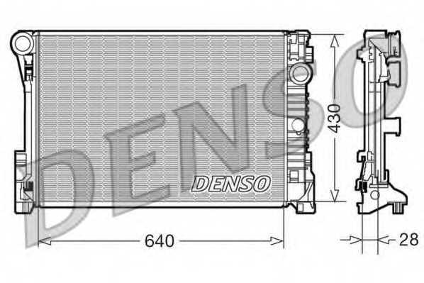 Радиатор охлаждения двигателя DENSO DRM17110 - изображение
