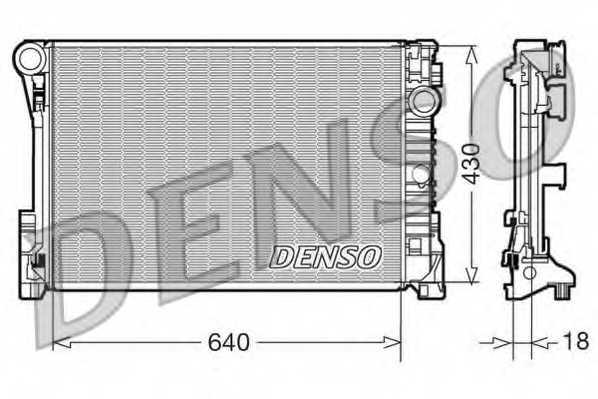 Радиатор охлаждения двигателя DENSO DRM17111 - изображение