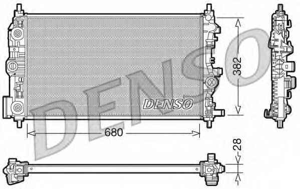 Радиатор охлаждения двигателя DENSO DRM20009 - изображение