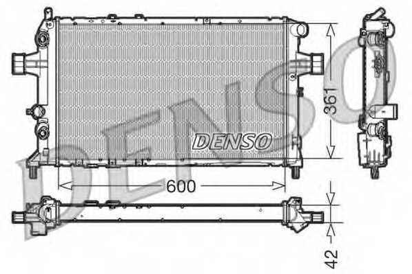 Радиатор охлаждения двигателя DENSO DRM20016 - изображение