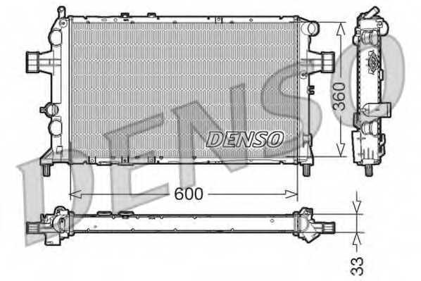 Радиатор охлаждения двигателя DENSO DRM20018 - изображение