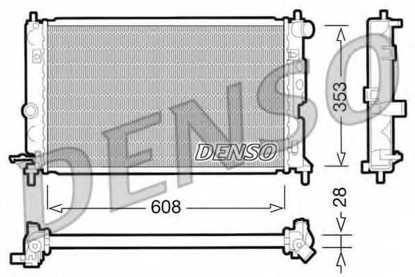 Радиатор охлаждения двигателя DENSO DRM20027 - изображение
