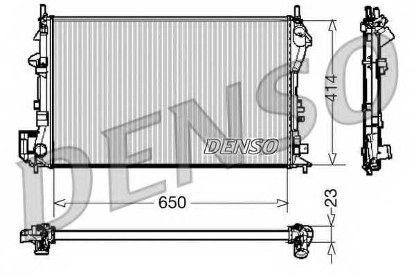 Радиатор охлаждения двигателя DENSO DRM20028 - изображение