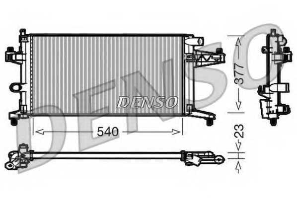 Радиатор охлаждения двигателя DENSO DRM20038 - изображение