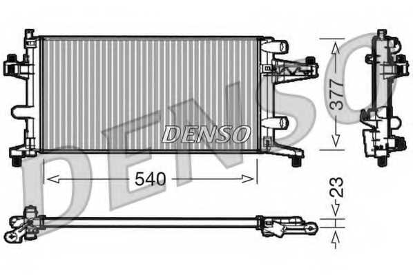 Радиатор охлаждения двигателя DENSO DRM20040 - изображение