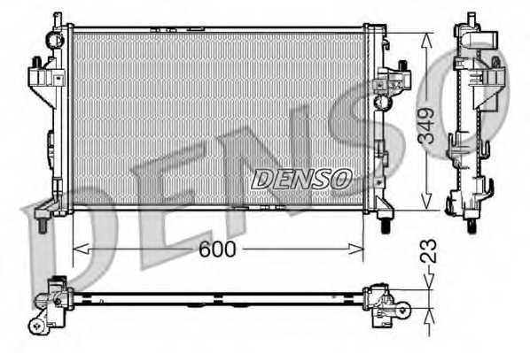 Радиатор охлаждения двигателя DENSO DRM20045 - изображение