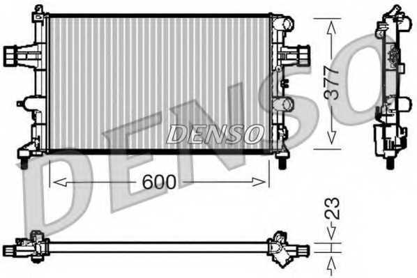 Радиатор охлаждения двигателя DENSO DRM20081 - изображение