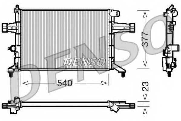 Радиатор охлаждения двигателя DENSO DRM20082 - изображение