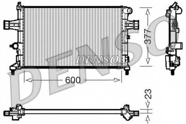 Радиатор охлаждения двигателя DENSO DRM20083 - изображение