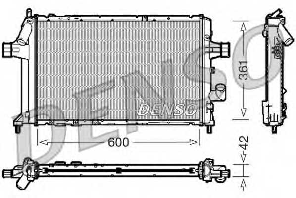 Радиатор охлаждения двигателя DENSO DRM20085 - изображение
