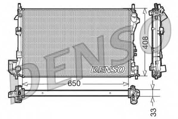 Радиатор охлаждения двигателя DENSO DRM20087 - изображение