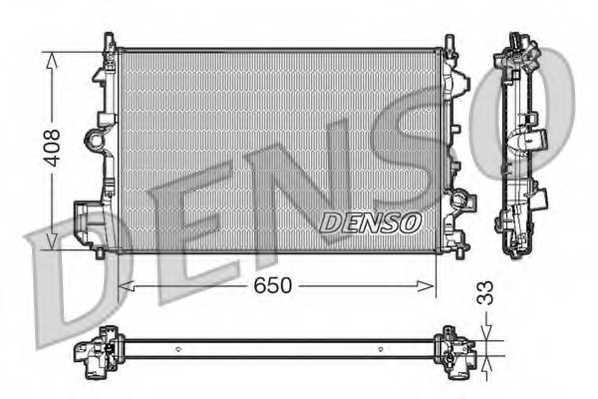 Радиатор охлаждения двигателя DENSO DRM20088 - изображение