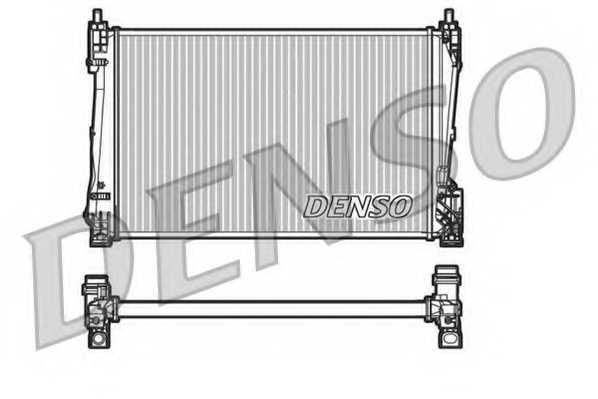 Радиатор охлаждения двигателя DENSO DRM20090 - изображение