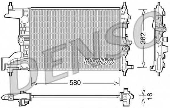 Радиатор охлаждения двигателя DENSO DRM20094 - изображение