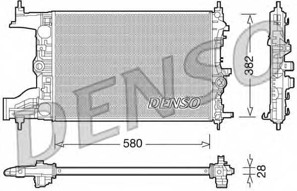 Радиатор охлаждения двигателя DENSO DRM20096 - изображение