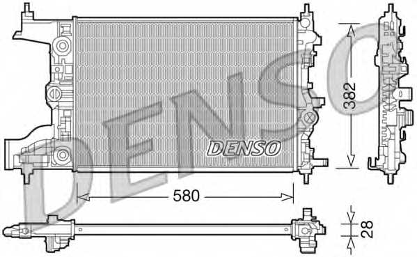 Радиатор охлаждения двигателя DENSO DRM20097 - изображение