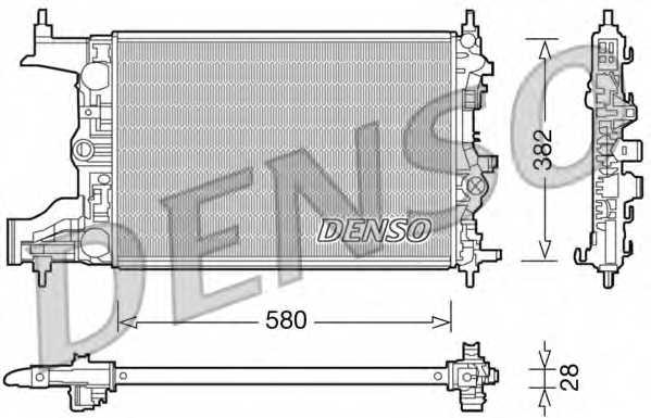 Радиатор охлаждения двигателя DENSO DRM20098 - изображение