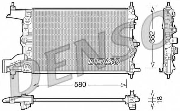 Радиатор охлаждения двигателя DENSO DRM20099 - изображение