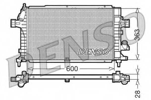 Радиатор охлаждения двигателя DENSO DRM20100 - изображение