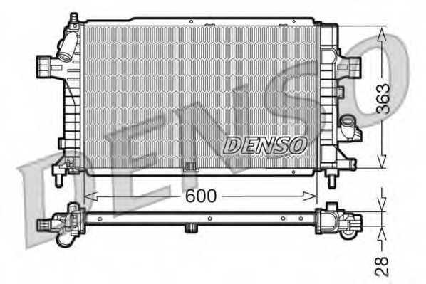 Радиатор охлаждения двигателя DENSO DRM20102 - изображение