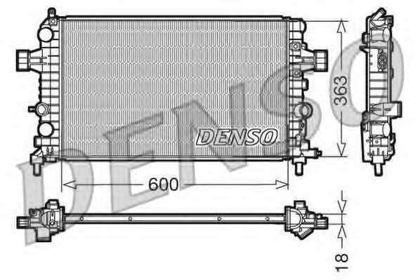 Радиатор охлаждения двигателя DENSO DRM20103 - изображение